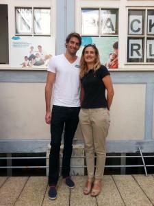 Avec Camille Lacourt qui fait de la piscine ;-)